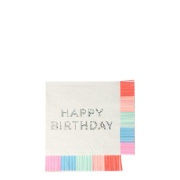 Happy Birthday Fringed Paper Napkins Meri Meri