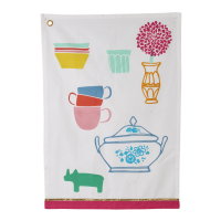Colourful Kitchen Print Tea Towel By Rice DK