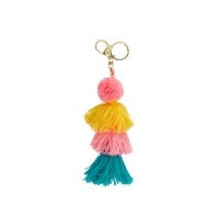 Colourful Tassel Charm Keyring By Rice DK