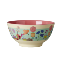 Colourful Flower Display Print Melamine Bowl Rice DK