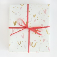 Confetti Wedding Print Wrapping Paper By Caroline Gardner