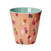 Coral Dapper Dot Print Melamine Cup By Rice DK