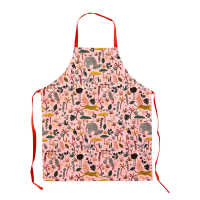 Childs Coral Pink Jungle Print Apron By Rice DK