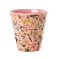 Jungle Coral Pink Print Melamine Cup By Rice DK