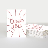 Thank you Cards Pack of 10 By Caroline Gardner