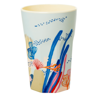 Coral Print Melamine Tall Cup By Rice DK