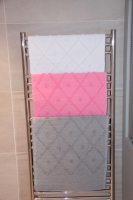 Cotton Bath Mat Handmade in Portugal Diamond Pattern