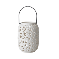 Cream Ceramic Lantern By Rice DK