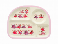 Kids 4 Room Melamine Plate Dancing Mice Emma Bridgewater
