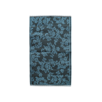 Dark Grey & Dusty Blue Small Flower Design Floor Mat Rice DK