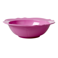 Dark Pink Melamine Salad or Serving Bowl By Rice DK