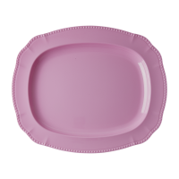 Dark Pink Melamine Serving Dish By Rice DK