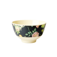 Dark Rose Print Small Melamine Bowl By Rice DK