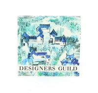 Designer Guild Classic Sticky Note Set Jade Temple Cornflower print