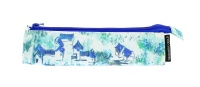 Designer Guild Triangular Pencil Case Jade Temple Cornflower print