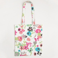 Ditsy Meadow Canvas Shopping Bag By Caroline Gardner