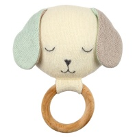 Dog Shaped Baby Rattle By Meri Meri