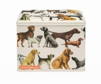 Dog Print Rectangular Tin By Emma Bridgewater