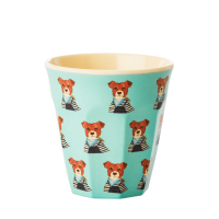 Kids Small Melamine Cup Green Dog Print Rice DK