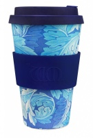Ecoffee Cup Reusable Bamboo Cup William Morris Acanthus Print