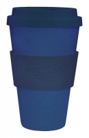 Ecoffee Cup Reusable Bamboo Cup in Plain Blue