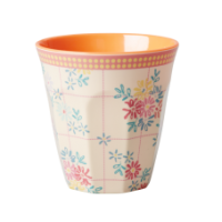 Rice DK Embroidered Flower Print Melamine Cup