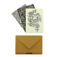 Emma Bridgewater Black Scroll Print Set of 12 Notecards