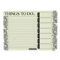 Emma Bridgewater Black Scroll Weekly To Do Pad