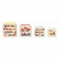Set of 4 Builders At Work Print Snack Boxes By Emma Bridgewater