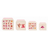 Set of 4 Dancing Mice Print Snack Boxes By Emma Bridgewater