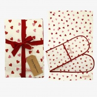 Pink Heart Print Oven Glove & Tea Towel Set Emma Bridgewater