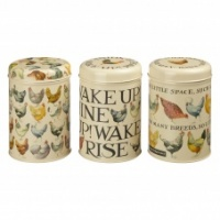 Emma Bridgewater Hen Print  Set of 3 Caddies