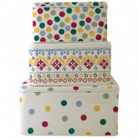 Emma Bridgewater Set of 3 Square Cake Tins Polka Dot
