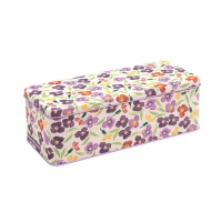Emma Bridgewater Wallflower Print Long Deep Rectangular Tin