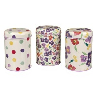 Emma Bridgewater Wallflower Print Set of 3 Tin Caddies