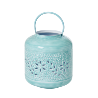 Extra Large Metal Lantern in Mint By Rice DK