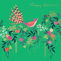Fan Tail Bird Birthday Card By Sara Miller London