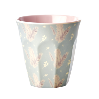 Feather Print Melamine Cup Rice DK