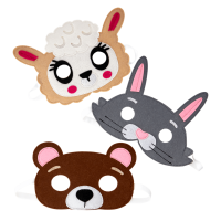 Animal Felt Kids Masks By Rice DK
