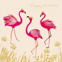 Flamingo Happy Birthday Card By Sara Miller London