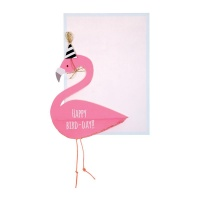 Flamingo Honeycomb Card By Meri Meri
