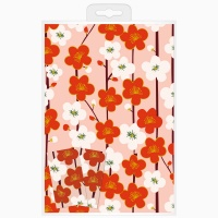 Floral Print Wrapping Paper & Tag Set By Caroline Gardner