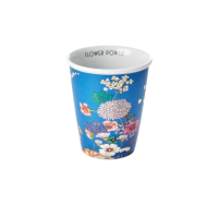 Porcelain Cup with Flower Collage Print By Rice DK