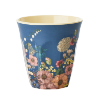 Flower Collage Print Melamine Cup Rice DK
