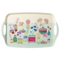 Melamine Tray with Flower Display Print By Rice DK