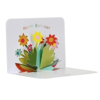 Flowers 3D Birthday Card by FORM