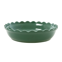 Large Stoneware Pie Dish in Forest Green by Rice DK