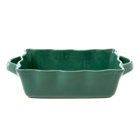 Medium Stoneware Oven Dish in Forest Green by Rice DK