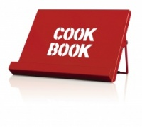 Cook Book Stand in Red by CKS Zeal