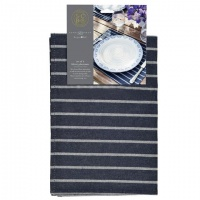 Set of 2 Blue Striped Cotton Placemats By Sophie Conran